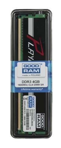 Goodram PLAY BLACK DDR3 DIMM 4GB 1600MHz (1x4GB)