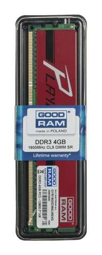 Goodram PLAY RED DDR3 DIMM 4GB 1600MHz (1x4GB)