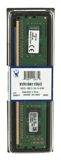 KINGSTON DDR3 2GB 1600MHz KVR16N11S6 2